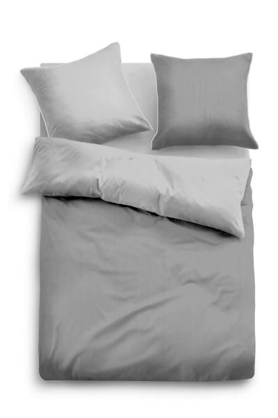 Bettwäsche Tom Tailor Satin Einfarbig in Grau