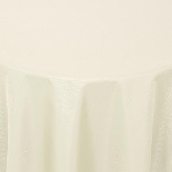Tischdecken Damast Rund mit Saum Uni Creme-Champagner