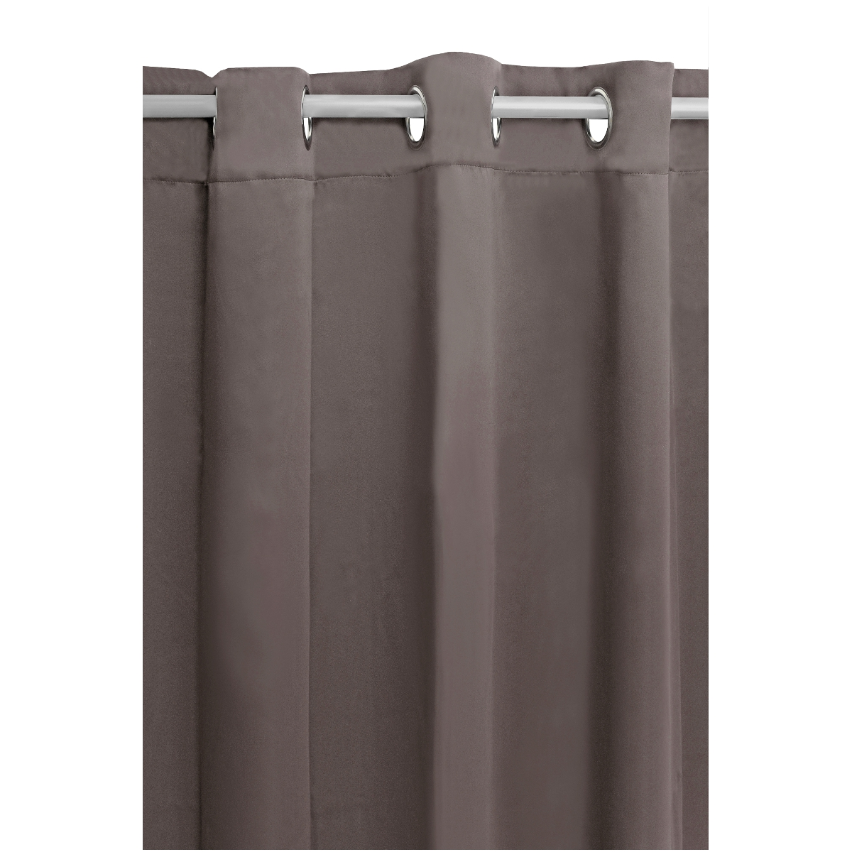 vorhang gardine blickdicht senschal dekoschal sen in taupe. Black Bedroom Furniture Sets. Home Design Ideas
