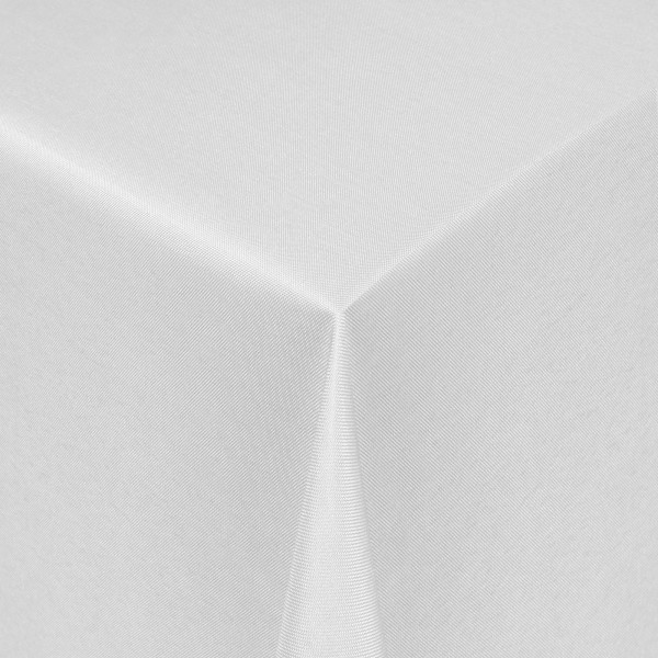 Tischdecken Damast Eckig mit Saum Uni Weiss