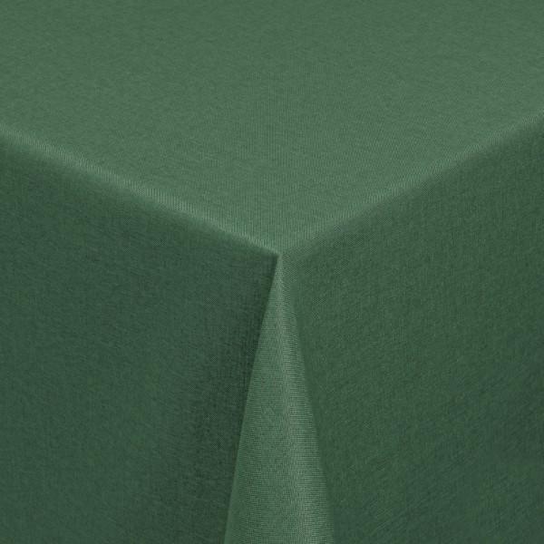 Tischdecken Damast Eckig mit Saum Leinen-Optik Dunkel-Grün