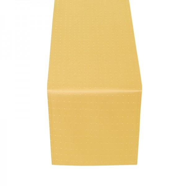 Tischläufer Tischband Punkte in Dunkel-Gelb