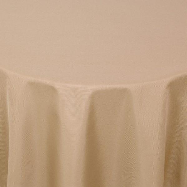Tischdecken Damast Oval mit Saum Uni Hell-Braun