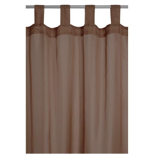 Vorhang Gardine Transparent Schlaufenschal Dekoschal in Braun