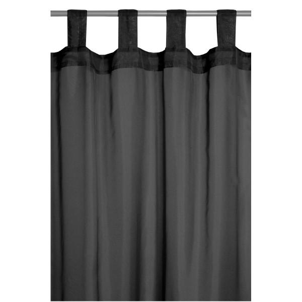 Vorhang Gardine Transparent Schlaufenschal Dekoschal in Schwarz