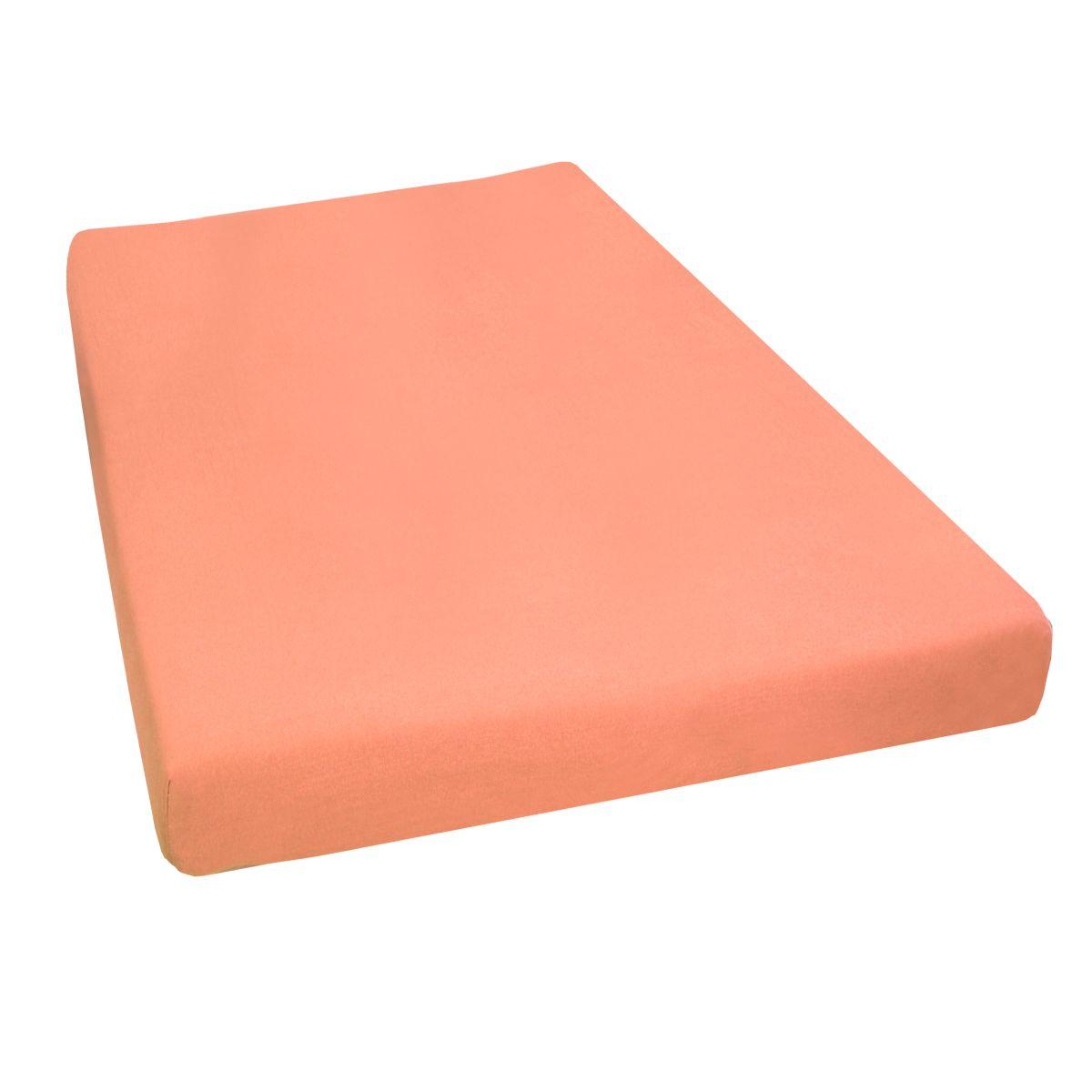 jersey stretch spannbettlaken spannbetttuch in apricot. Black Bedroom Furniture Sets. Home Design Ideas