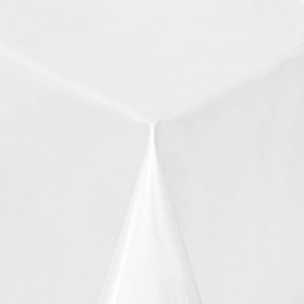 Tischdecke Abwaschbar Wachstuch Lebensmittelecht einfarbig Weiss