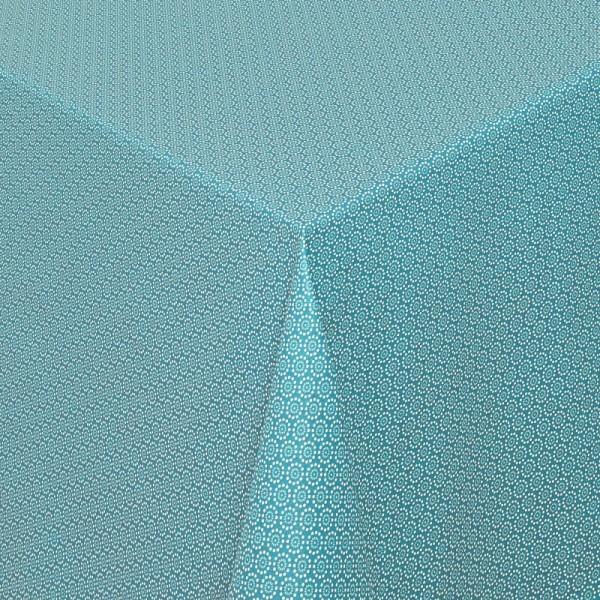 Tischdecken Viterbo 100% Baumwolle in Petrol mit Fleckschutz