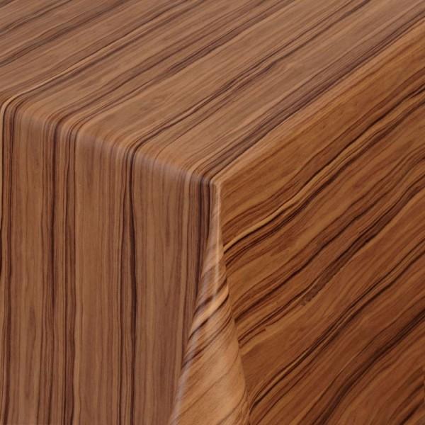 Tischdecke Abwaschbar Wachstuch Holz Struktur Braun im Wunschmaß