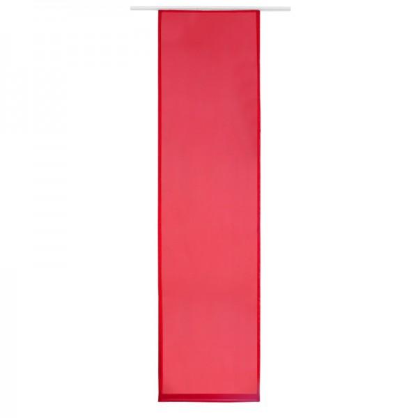 Schiebegardine Schiebevorhang Gardine Uni Rot