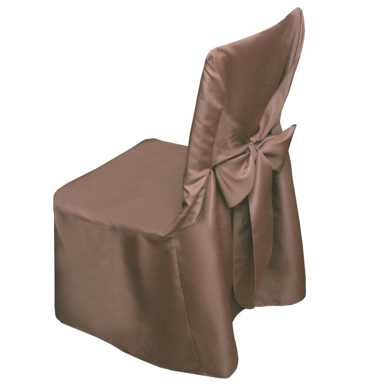 stuhlhusse uni stuhlbezug stuhl berzug husse hussen braun. Black Bedroom Furniture Sets. Home Design Ideas