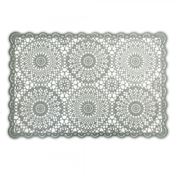 Tischsets Häkeloptik 6er-Set Platzsets 30x45 cm in Grau
