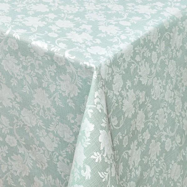 Tischdecken Jacquard-Gewebe mit Fleckschutz und Saum Badalona in Hell-Grün