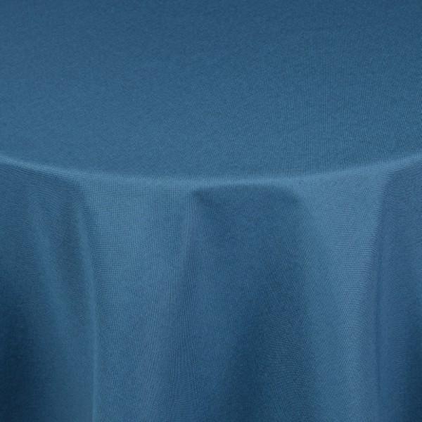 Tischdecken Damast Oval mit Saum Leinen-Optik Dunkel-Blau