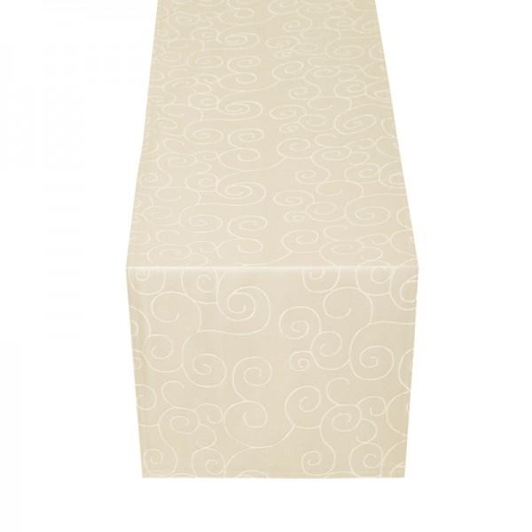 Tischläufer Tischband Ornamente in Creme-Champagner