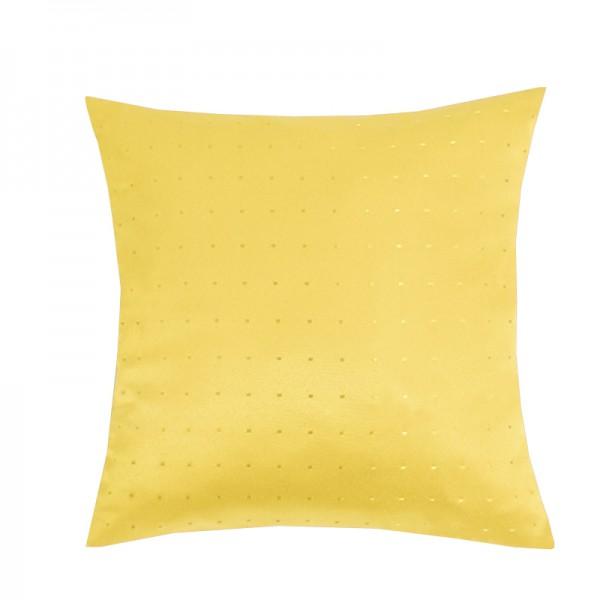 Kissenhülle Punkte Sofa Kissen Deko in Dunkel-Gelb