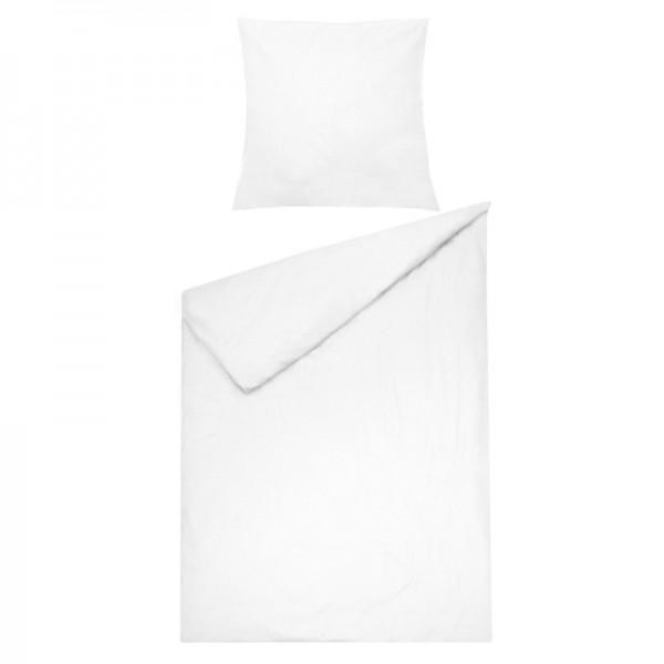 Bettwäsche Moderno Renforcé einfarbig in Weiss