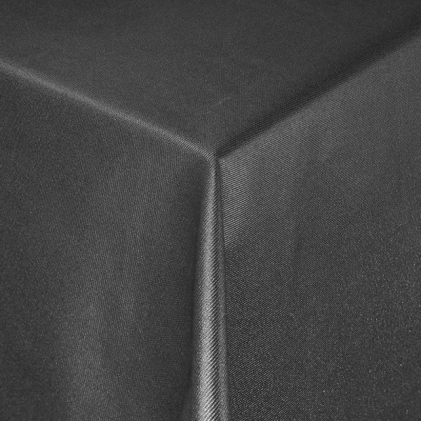 Tischdecken Jacquard-Gewebe mit Glanzeffekt und Fleckschutz Lurex in Anthrazit