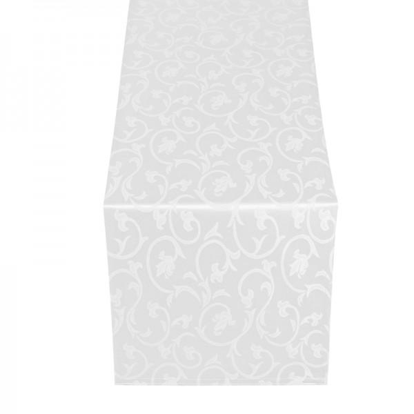 Tischläufer Tischband Barock in Weiss
