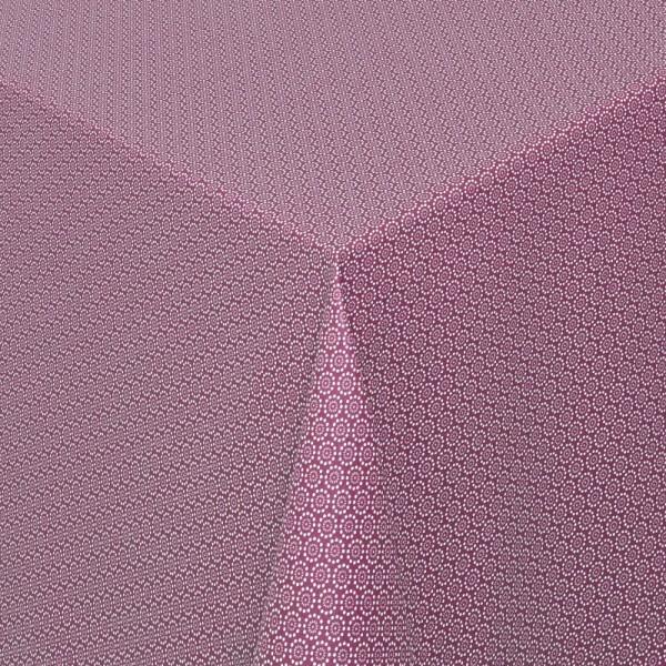 Tischdecken Viterbo 100% Baumwolle in Lila mit Fleckschutz