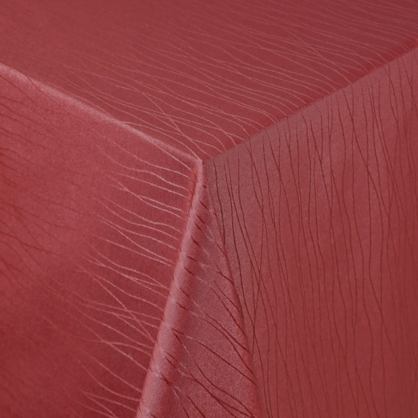 Tischdecken Sanremo Jaquard-Gewebe in Wein-Rot mit Fleckschutz