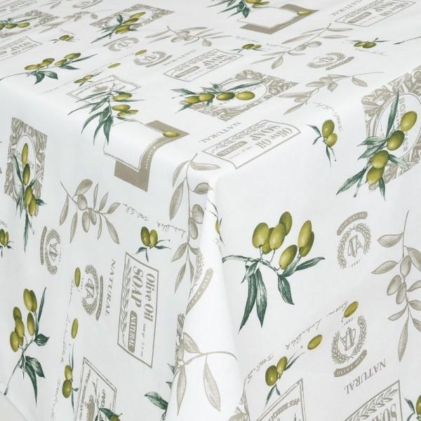 Tischdecken Livorno Jaquard-Gewebe in Weiss mit Fleckschutz