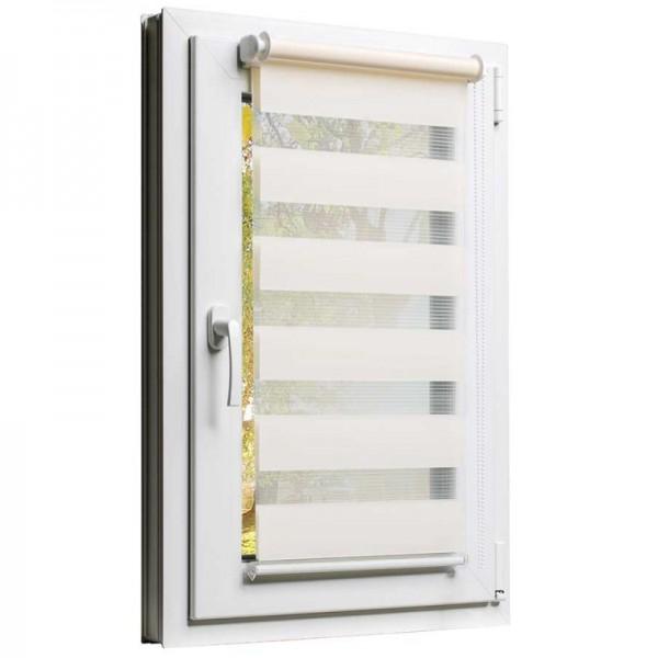 Fensterrollo mit Kettenzug und Klemmfix ohne bohren in Creme-Beige