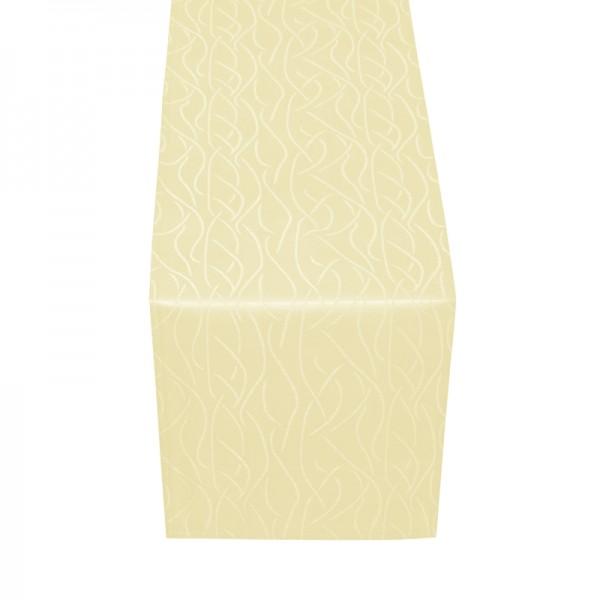 Tischläufer Tischband Streifen in Creme-Beige