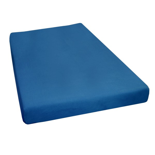 Jersey Stretch Spannbettlaken Spannbetttuch in Dunkel-Blau