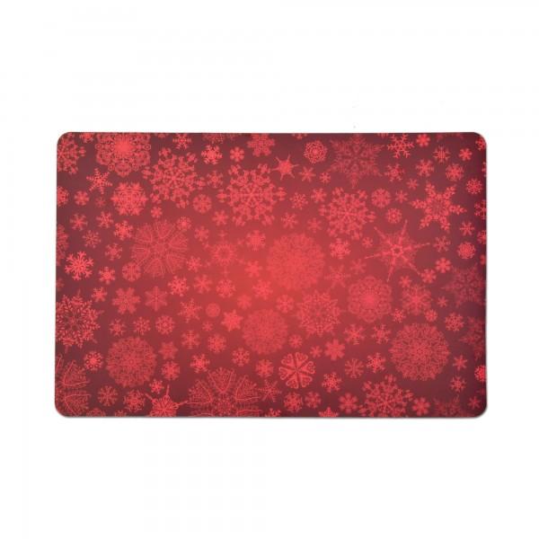 Tischsets 6er-Set Platzsets 30x45 cm Eiskristallen in Rot