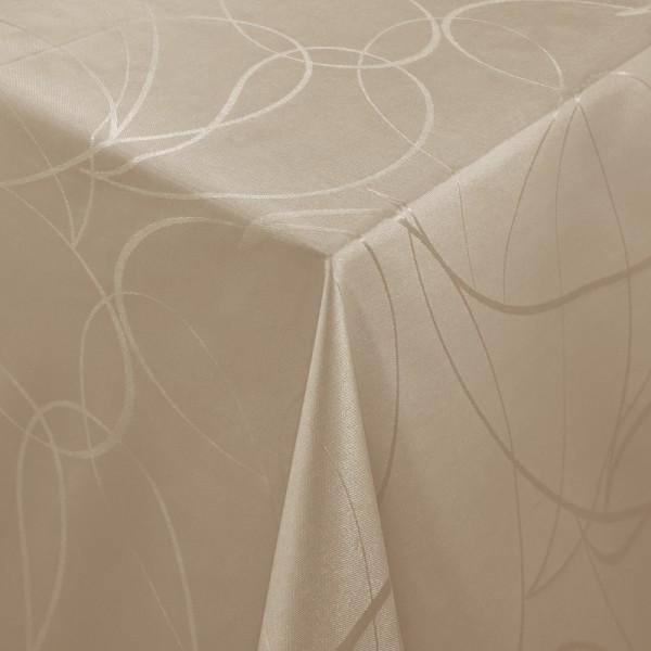 Tischdecken Aversa Jaquard-Gewebe in Braun mit Fleckschutz