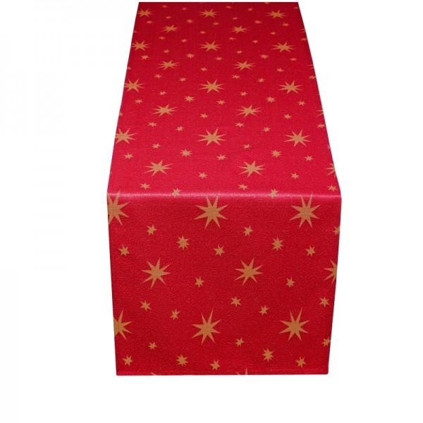 Tischläufer Tischband Lurex 40x170 cm Rot-Gold
