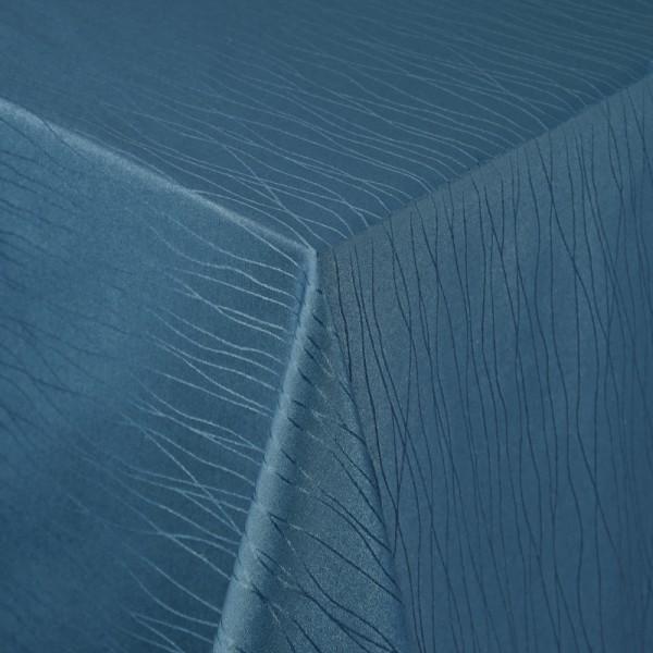 Tischdecken Sanremo Jaquard-Gewebe in Dunkel-Blau mit Fleckschutz