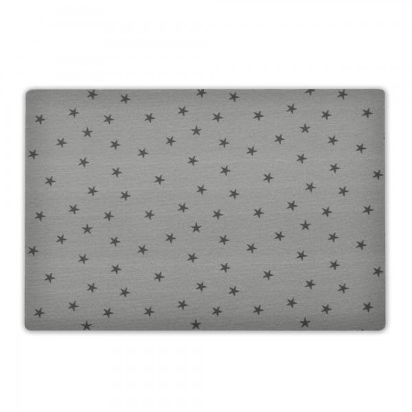 Tischsets mit Sternen 6er-Set Platzsets 30x45 cm in Grau