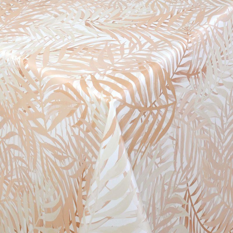 tischdecke abwaschbar wachstuch farne motiv beige im wunschma. Black Bedroom Furniture Sets. Home Design Ideas
