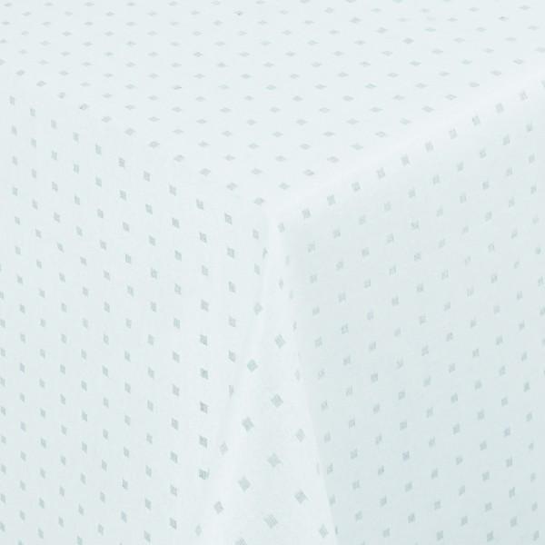 Tischdecken Jacquard-Gewebe mit Fleckschutz und Saum Helsinki Ice-Blau