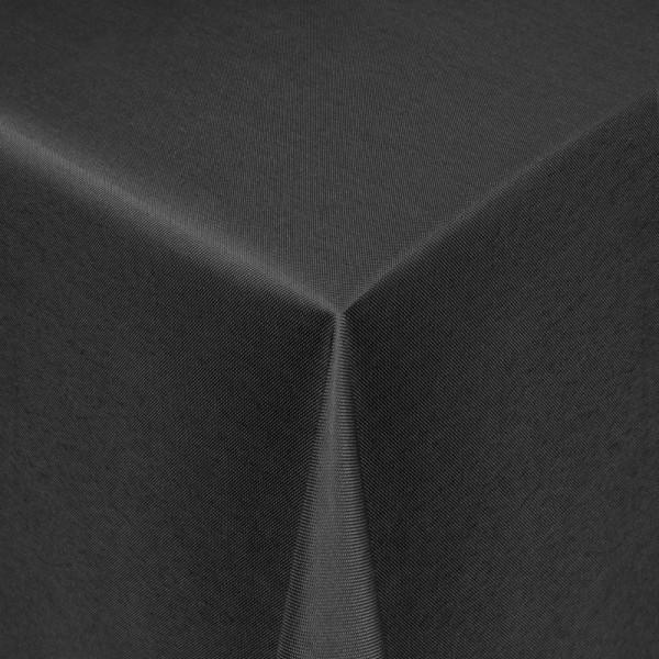 Tischdecken Damast Eckig mit Saum Uni Schwarz