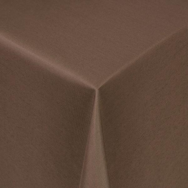 Tischdecken Damast Eckig mit Saum Uni Dunkel-Braun