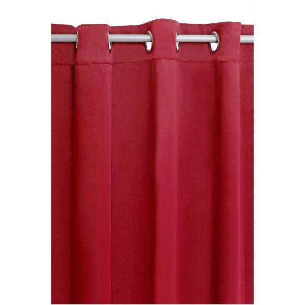 Vorhang Gardine Blickdicht Ösenschal Dekoschal Ösen in Rot