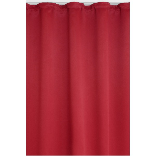 Vorhang Gardine Blickdicht Dekoschal Kräuselband in Rot