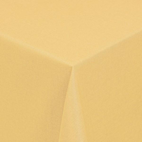 Tischdecken Damast Eckig mit Saum Leinen-Optik Dunkel-Gelb