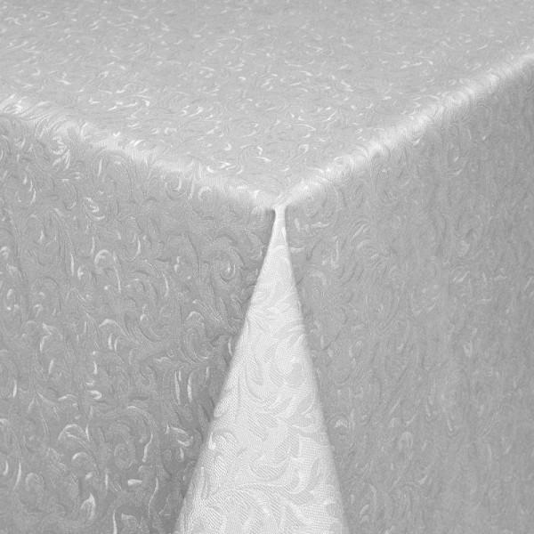 Tischdecke Abwaschbar Wachstuch Relief Ornamente Grau im Wunschmaß