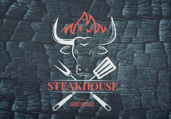 Grillunterlage Grillmatte Bodenschutz Anti-Rutsch Steakhouse Schwarz
