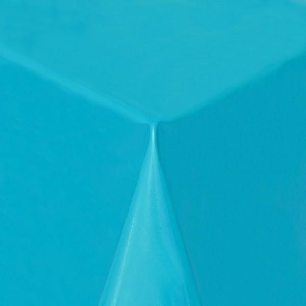 Tischdecke Abwaschbar Wachstuch Lebensmittelecht einfarbig Hell-Blau