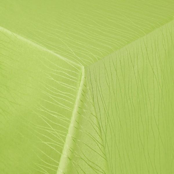 Tischdecken Sanremo Jaquard-Gewebe in Grün mit Fleckschutz