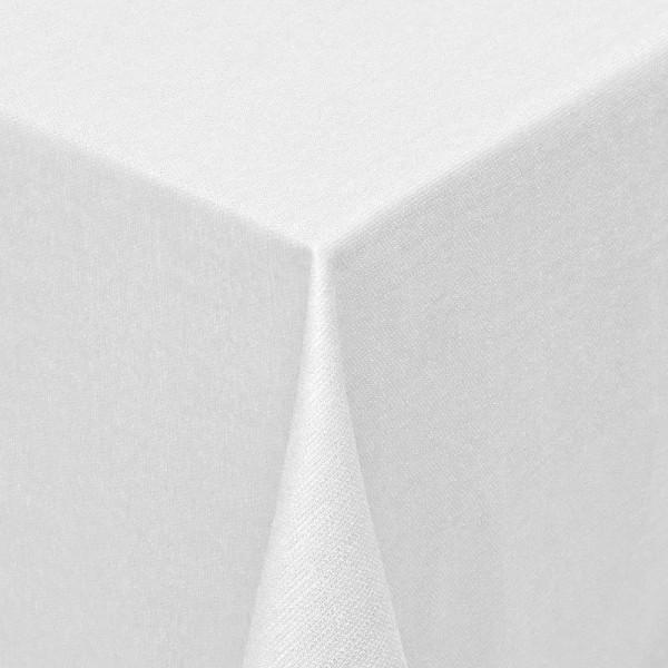 Tischdecken Jacquard-Gewebe mit Fleckschutz und Saum Parla in Weiss