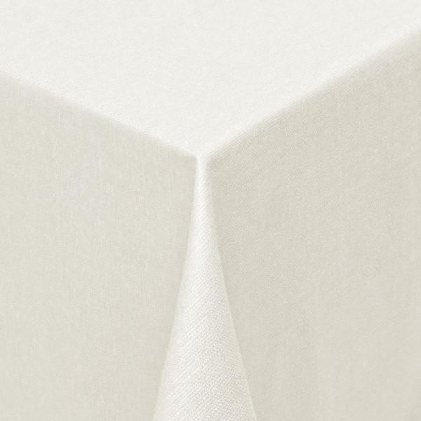 Tischdecken Jacquard-Gewebe mit Fleckschutz und Saum Parla in Creme-Champagner