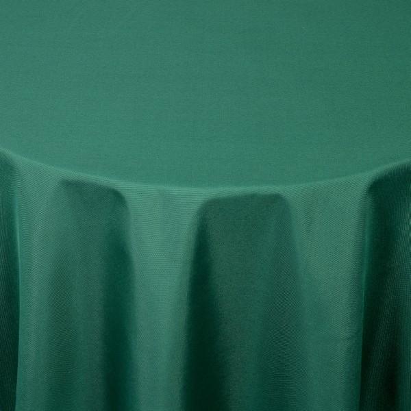 Tischdecken Damast Rund mit Saum Uni Dunkel-Grün