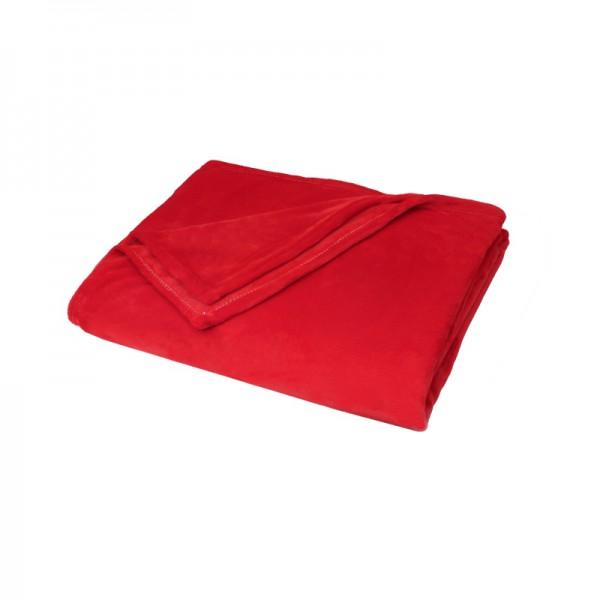 Kuscheldecke Supersoft Tagesdecke Wohndecke Bettüberwurf in Rot