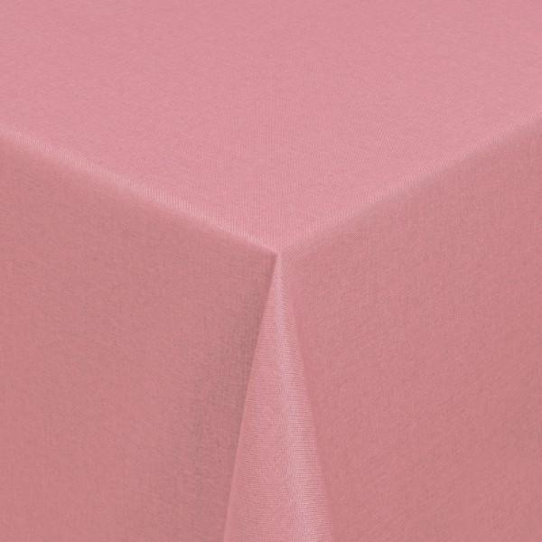 Tischdecken Damast Eckig mit Saum Leinen-Optik Alt-Rosa